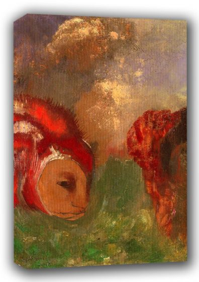 Redon, Odilon (Bertrand-Jean): Angelika and the Dragon. Fine Art Canvas. Sizes: A3/A2/A1 (00881)